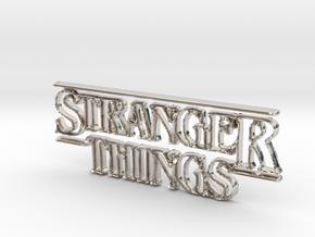 Stranger Things Logo in Rhodium Plated Brass