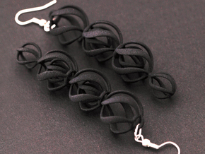 SWIRL - earrings in Black Natural Versatile Plastic