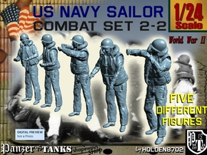 1-24 US Navy Sailors Combat SET 2-2 in White Strong & Flexible