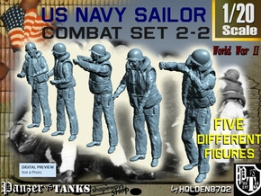 1-20 US Navy Sailors Combat SET 2-2 in White Natural Versatile Plastic