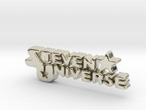 Steven Universe Logo in 14k White Gold