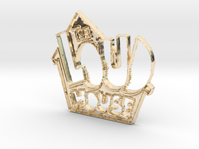 Loud House Logo in 14k Gold Plated Brass