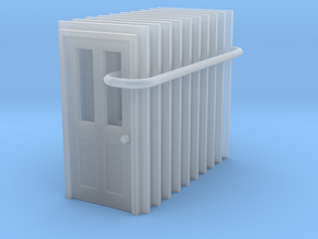 Door Type 6 - 900 X 2000 X 10 in Smooth Fine Detail Plastic: 1:148