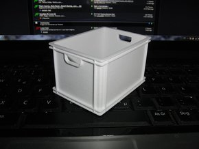 1/8 scale plastic box in White Natural Versatile Plastic