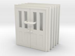 Door Type 7 - 810D X 2000 X 5 in White Natural Versatile Plastic: 1:87