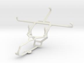 Controller mount for Steam & Meizu m1 metal - Fron in White Natural Versatile Plastic