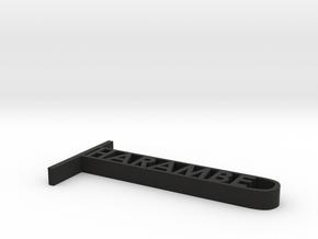 Harambe in Black Natural Versatile Plastic