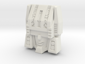 "R63 - ""Thinktank"" Face (Titans Return) in White Natural Versatile Plastic"