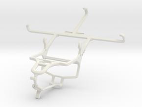 Controller mount for PS4 & Micromax Canvas Mega E3 in White Natural Versatile Plastic