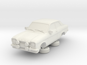 1-87 Escort Mk 1 2 Door Rs in White Natural Versatile Plastic
