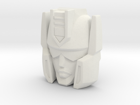 "R63 - ""Vizar"" Face (Titans Return) in White Natural Versatile Plastic"