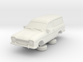 1-76 Escort Mk 1 2 Door Van in White Natural Versatile Plastic