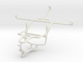 Controller mount for PS4 & Motorola Moto Z Force in White Natural Versatile Plastic