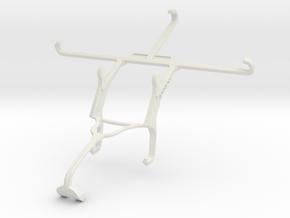 Controller mount for Xbox 360 & Motorola Moto Z Fo in White Natural Versatile Plastic