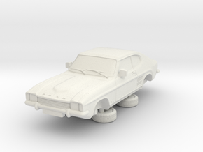 1-87 Ford Capri Mk1 Standard in White Natural Versatile Plastic
