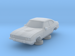 1-87 Ford Capri Mk3 3L in Smooth Fine Detail Plastic