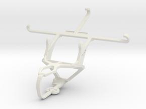 Controller mount for PS3 & Panasonic Eluga L 4G in White Natural Versatile Plastic
