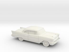 1/87 1957 Chevrolet BelAir Coupe in White Natural Versatile Plastic