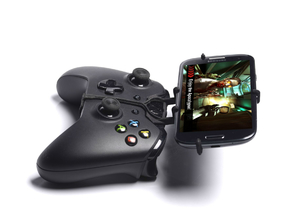 Xbox One controller & Plum Check LTE - Front Rider in Black Natural Versatile Plastic