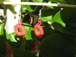 Spiky Sun Earrings in Red Processed Versatile Plastic