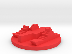 Game Piece, Red Force Navy Group in Red Processed Versatile Plastic