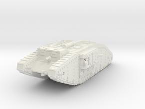 1/160 Mk IV Female Tank in White Natural Versatile Plastic