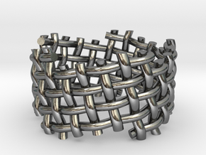 Woven Twisted Ring in Polished Silver: 5 / 49