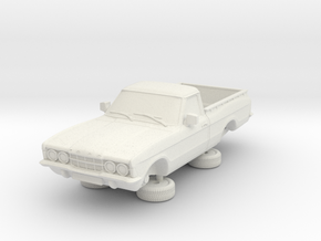 1-76 Ford Cortina Mk3 2 Door P100 in White Natural Versatile Plastic