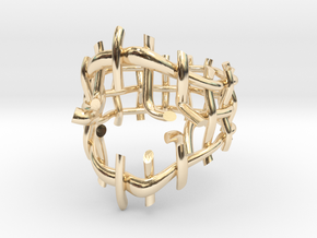 Breakout Ring in 14k Gold Plated Brass: 5 / 49