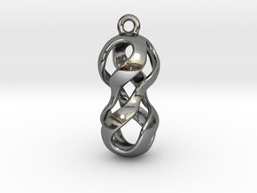 Twisted Earring in Fine Detail Polished Silver