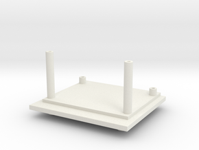 Titans Fort Max G1 Waist Tower Adaptor in White Natural Versatile Plastic