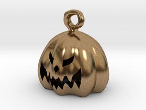 Mini Pumpkin  in Natural Brass