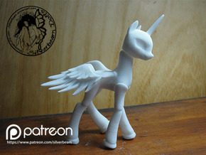 Celestia BJD Alicorn: Mini version  in White Strong & Flexible
