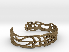 Skinny Sea Fan Cuff in Polished Bronze