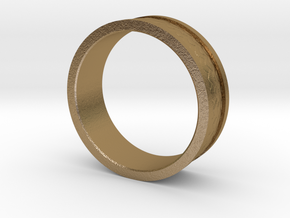 Dragon Scale Band in Polished Gold Steel: 7.25 / 54.625