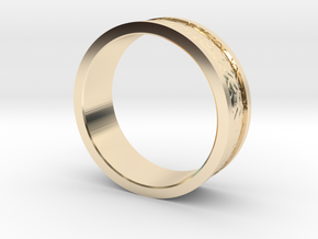 Dragon Scale Band in 14k Gold Plated Brass: 7.25 / 54.625