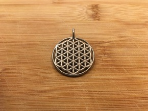 Flower of Life Pendant in Polished Nickel Steel