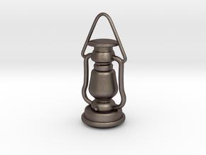 1/6 Lantern miniature/pendant in Polished Bronzed Silver Steel