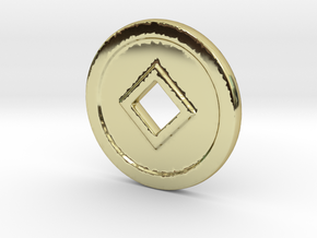 CD-N in 18k Gold Plated Brass