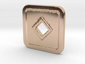 SD-N in 14k Rose Gold Plated Brass