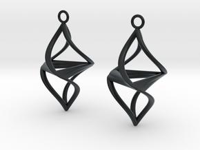 Twister earrings in Black Hi-Def Acrylate