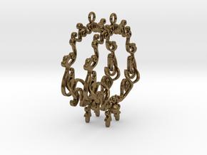 Baroque Hoops in Natural Bronze