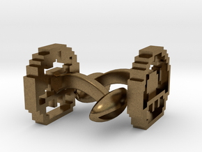 1-up (cool retro links) in Natural Bronze