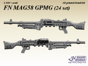 1/100 FN MAG58 GPMG (24 set) in Frosted Extreme Detail