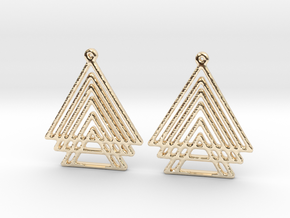 TRES in 14K Yellow Gold