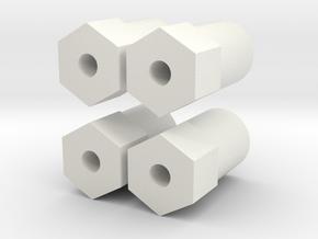 MRB 5 Karohalter (Schrauben) in White Natural Versatile Plastic