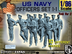 1-96 USN Officers Set1-1 in Smooth Fine Detail Plastic