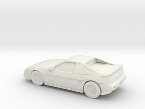 1/87 1988 Pontiac Fiero Fast Back in White Natural Versatile Plastic