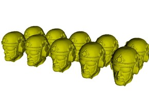 1/24 scale SOCOM operator A helmet & heads x 10 in Smooth Fine Detail Plastic