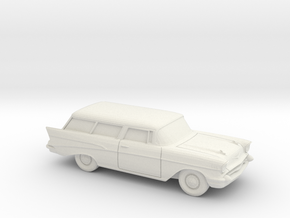 1/87 1957 Chevrolet  Nomad in White Natural Versatile Plastic